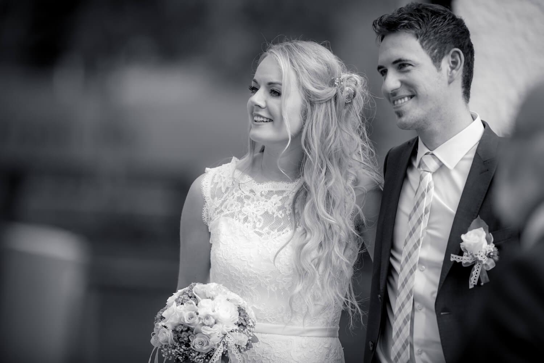 standesamtliche Trauung - Hochzeit Brautpaar beim Eintreffen der Gäste