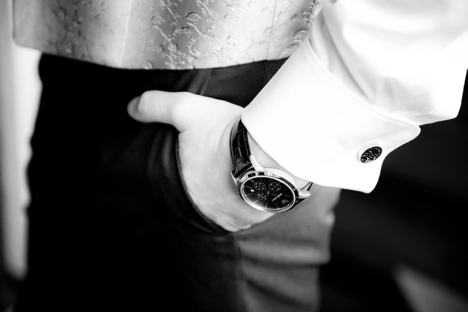 freie Trauung Ammersee - Armbanduhr des Bräutigams