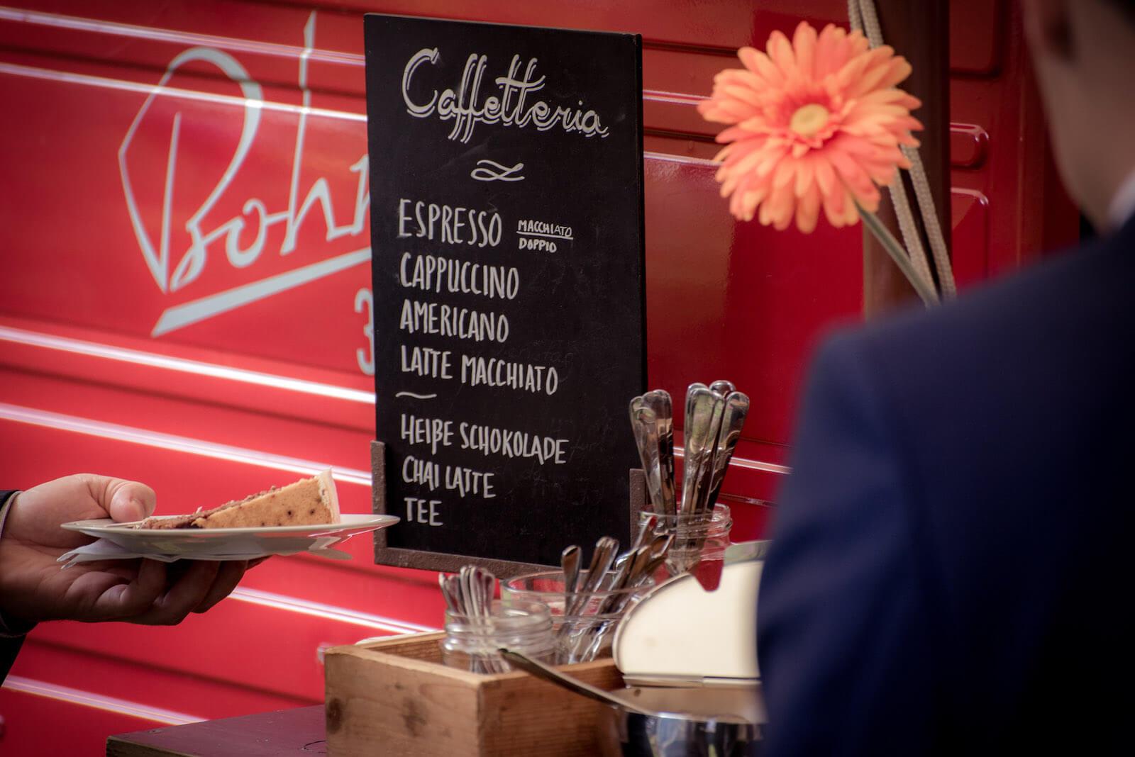 freie Trauung Ammersee - Piaggio Ape mit Caffetteria Bar
