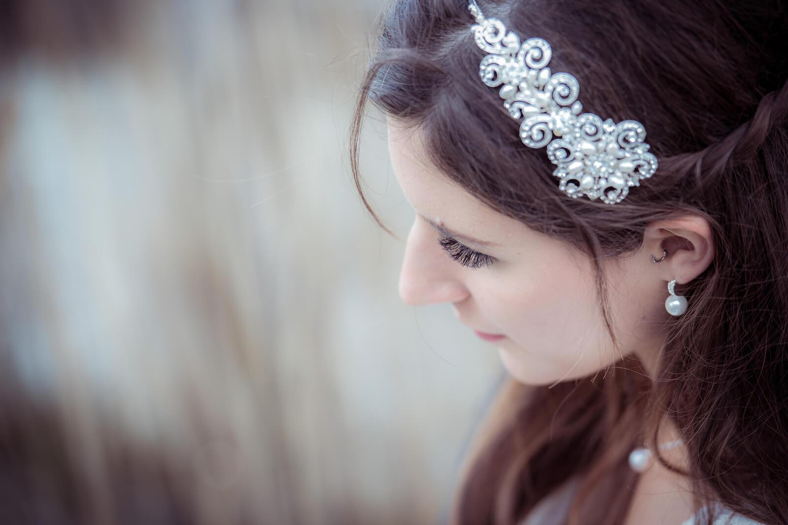 Hochzeit mit Babybauch - Wimpern der Braut