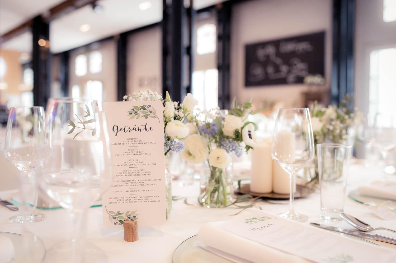 Diana und Gunter Hochzeitsfotografie - Tischdeko im Hamburger Restaurant catch of the day