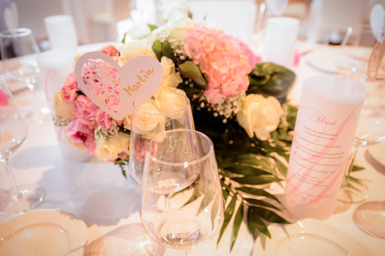 Hochzeit Gardasee - Tischdekoration