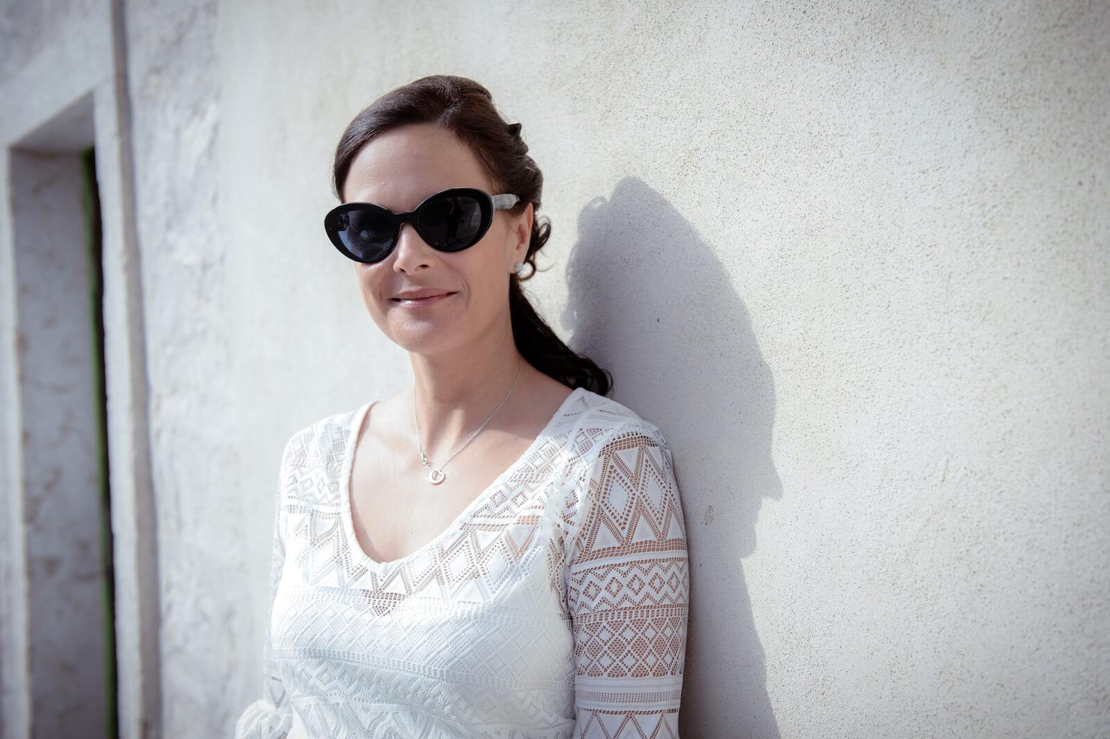 Hochzeit Gardasee - Portrait der Braut