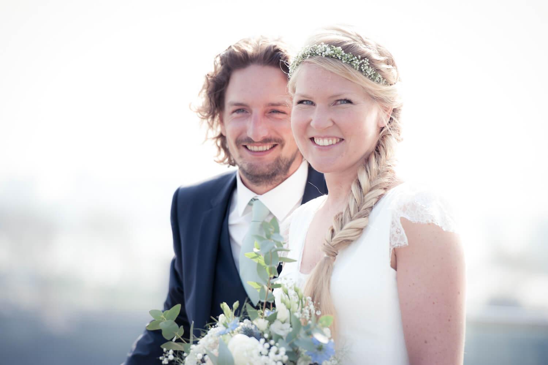 Hochzeit Film und Foto - Portrait des attraktiven Paares