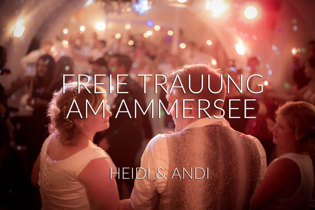 freie Trauung Ammersee - abendliche Partykulisse und Feierstimmung nach einem herrlichen Hochzeitstag